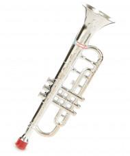 Trompeta de plástico prateada