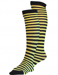 Meias amarelas e pretas