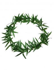 Colar havaiano com folhas verdes
