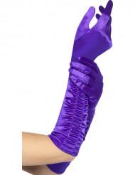 Luvas compridas violetas mulher