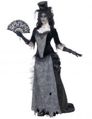Disfarce fantasma anos 20 mulher Halloween