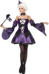 Disfarce barroco violeta mulher Halloween