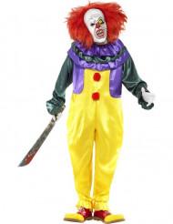 Disfarce palhaço assustador adulto Halloween