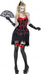 Disfarce zombie burlesco sexy para mulher Halloween