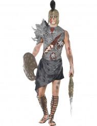 Disfarce gladiador zombie homem Halloween