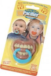 Chupeta engraçada dentes bebê