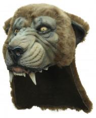 Máscara 3/4 puma adulta de luxo