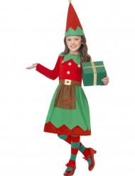 Disfarce de elfo menina Natal