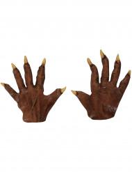 Mãos lobisomem adulto Halloween