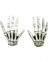 Luvas curtas esqueleto adulto