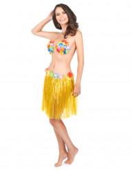 Saia havaiana curta amarela adulto