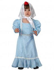 Disfarce madrilena azul bebê