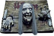 Decoração placa Welcome zombie Halloween