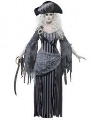 Disfarce fantasma pirata mulher Halloween