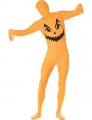Disfarce segunda pele abóbora adulto Halloween