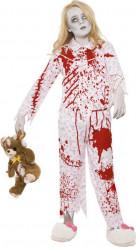 Disfarce zombie pijama rapariga Halloween