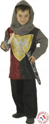 Disfarce cavaleiro medieval rapaz