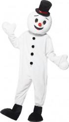 Disfarce de boneco de neve mascote adulto Natal