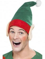 Gorro duende com orelhas adulto Natal