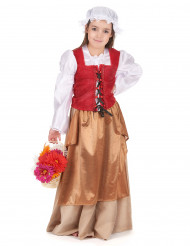 Disfarce aldeã Idade Média rapariga