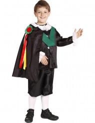 Disfarcede cantor tradicional espanhol rapaz