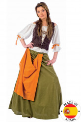 Disfarce taberneira medieval mulher