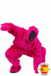 Disfarce gorila cor de rosa adulto