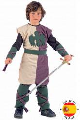 Disfarce medieval menino