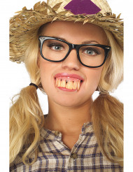 Dentura dentes grandes