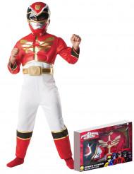 Disfarce Power Rangers Megaforça™ vermelho menino