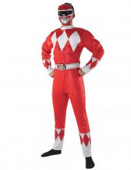 Disfarce Power Rangers™ vermelho adulto