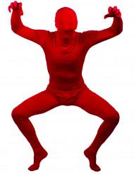 Disfarce segunda pele vermelha adulto