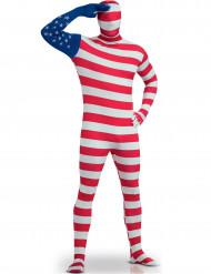 Disfarce Segunda Pele bandeira US adulto