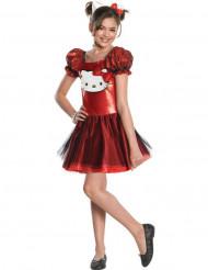 Disfarce de Hello Kitty™  vermelho para menina
