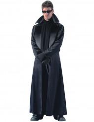 Disfarce casaco comprido preto homem