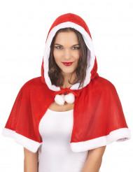 Capa com carapuço Mãe Natal mulher