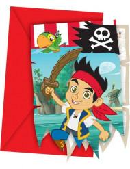 6 Convites Jake e os Piratas da Terra do Nunca™