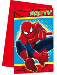 6 convites Spiderman™