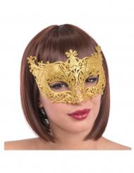 Máscara veneziana ouro adulto