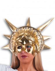 Meia-Máscara dourada Estátua da Liberdade adulto
