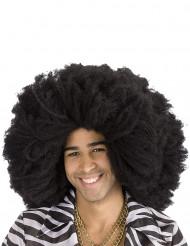 Peruca afro preta adulto