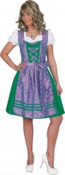 Disfarce tradicional azul e violeta Bávara mulher