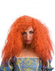 Peruca encaracolada laranja mulher