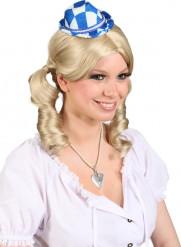 Mini chapéu azul e branca
