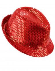 Chapéu vermelho com lantejoulas