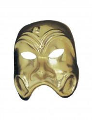 Máscara comedia dourado adulto
