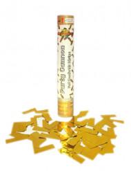 Canhão de confetis dourados