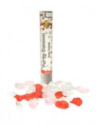 Canhão de confetis pétalas cor-de-rosa 30 cm