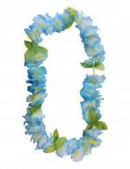 Colar de flores havaianas azuis