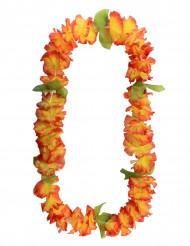 Colar de flores havaianas cor de laranja